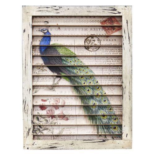 nearly natural Peacock Window Shutter Wall Decor