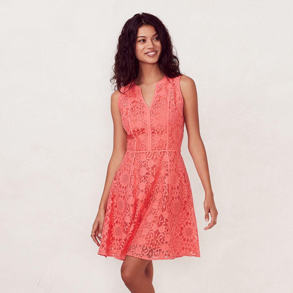 Women's LC Lauren Conrad Lace Fit & Flare Dress