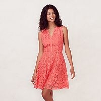 Women's LC Lauren Conrad Lace Fit & Flare Dress