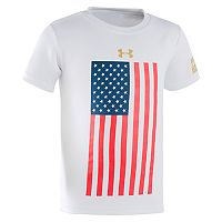 Boys 4-7 Under Armour Logo Patriotic Flags Graphic Tee