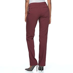 Women's Apt. 9® Torie Midrise Modern Fit Straight-Leg Dress Pants