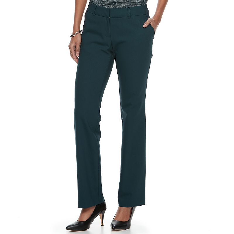 ea8aea5d36d Women s Apt. 9® Torie Modern Fit Straight-Leg Dress Pants (Turq Aqua ...