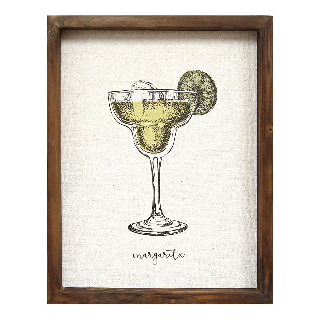 Stratton Home Decor ''Margarita'' Framed Wall Art