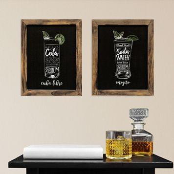 Stratton Home Decor Cocktails Wall Art 2-piece Set