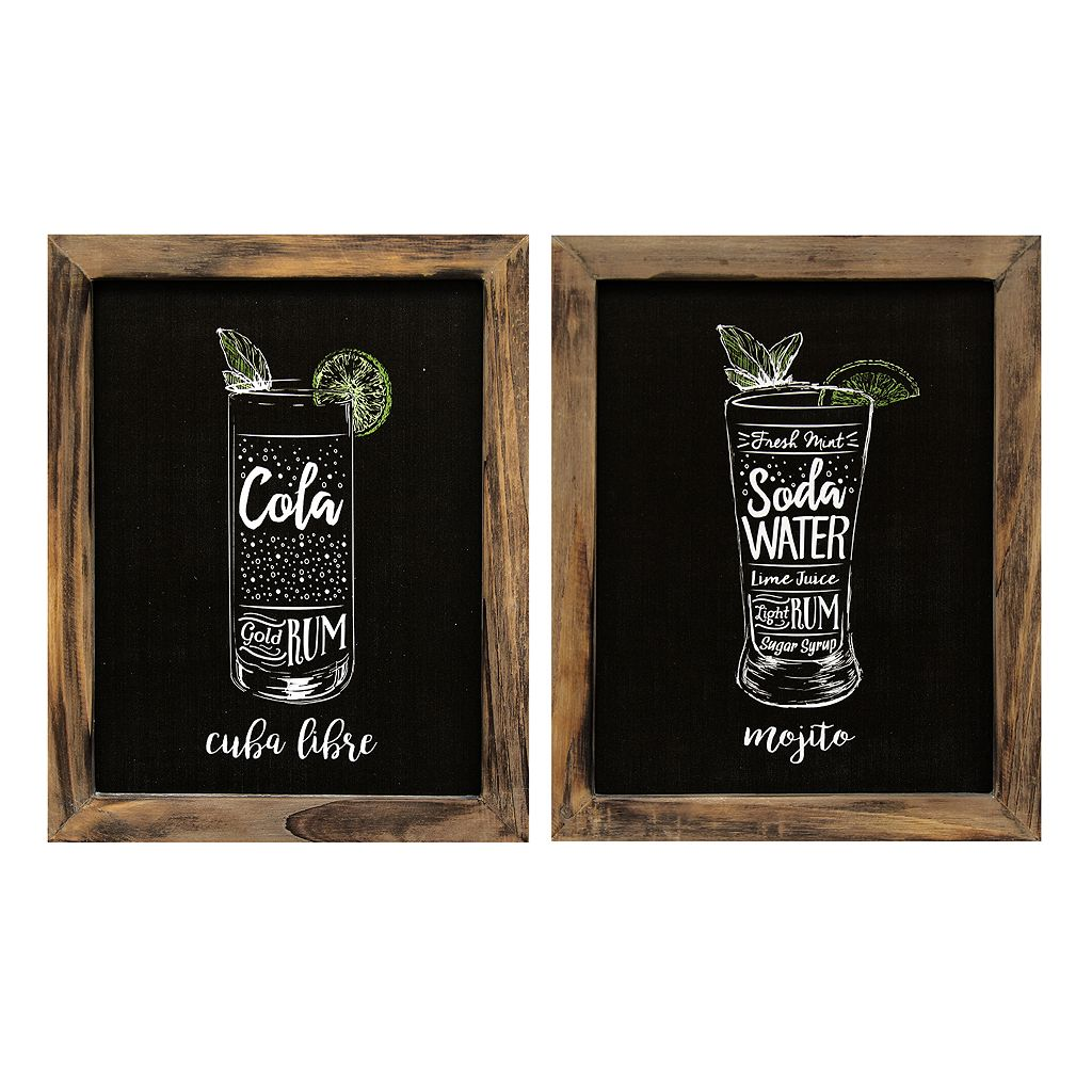 Stratton Home Decor Cocktails Wall Art 2-piece Set