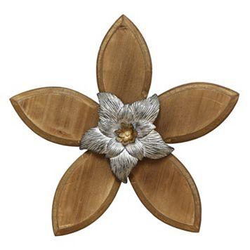 Stratton Home Decor Rustic Flower I Wall Decor