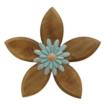 Stratton Home Decor Rustic Flower III Wall Decor