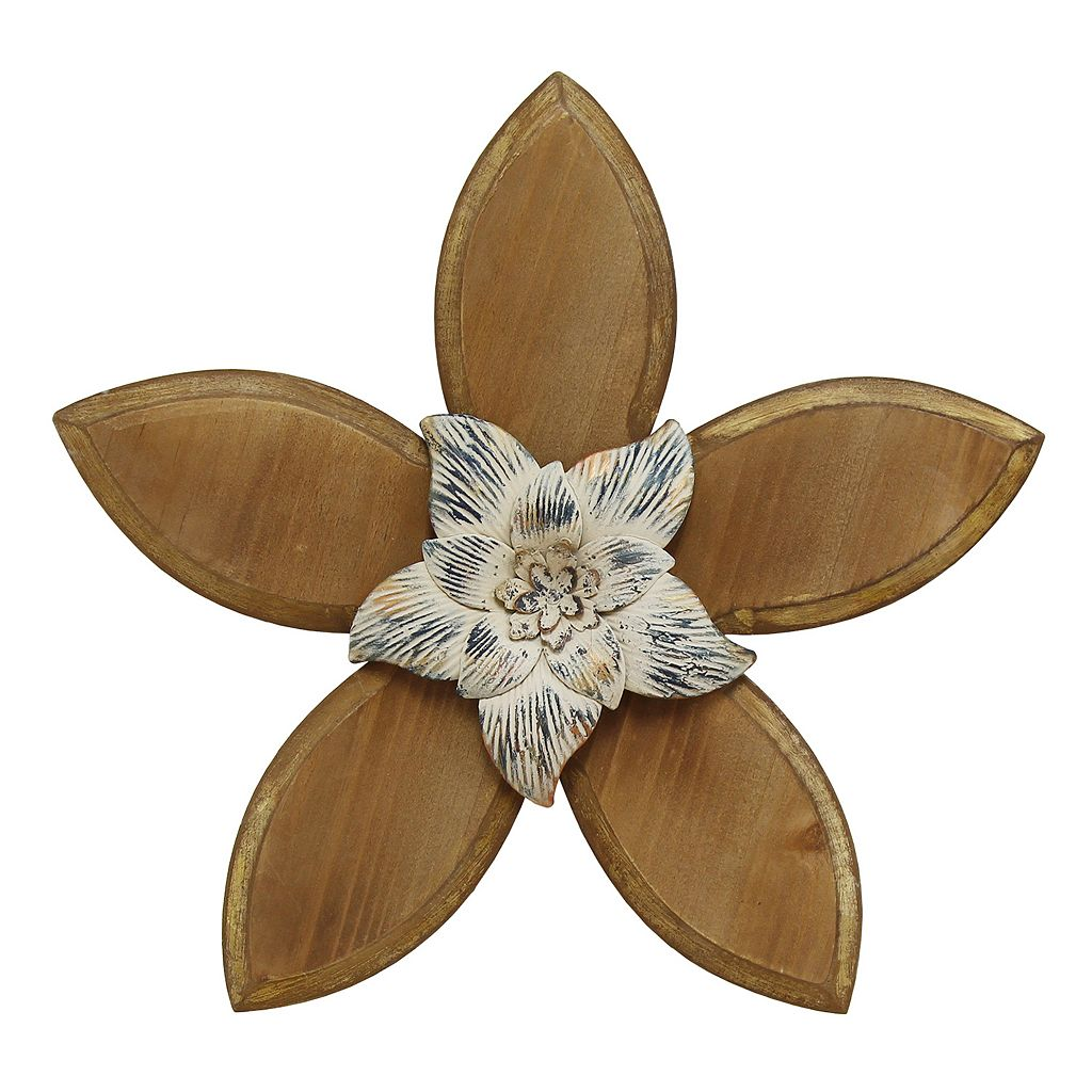 Stratton Home Decor Rustic Flower IV Wall Decor