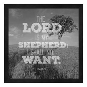 """The Lord Is My Shepherd"" Framed Wall Art"