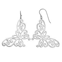 Silver Classics Sterling Silver Butterfly Drop Earrings