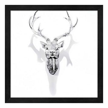 White Antler Framed Wall Art