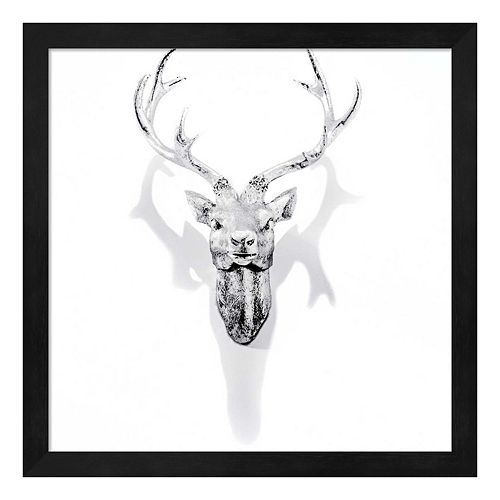 White Antler Framed Wall Art