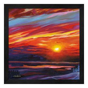 Mountain Top Sunset Framed Wall Art
