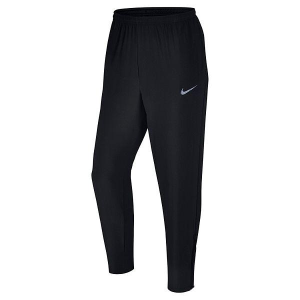 mens nike running tights black mens clothing
