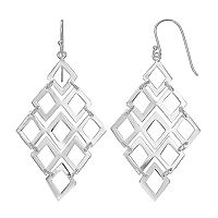 Silver Classics Sterling Silver Kite Drop Earrings
