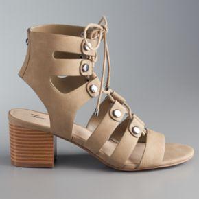 Simply Vera Vera Wang Women's Lace-Up Heels