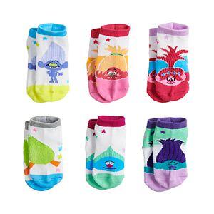 Toddler Girl Dreamworks Trolls 6-pk. Poppy Glittery Low-Cut Socks