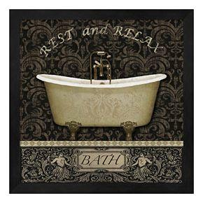 Bath I Framed Wall Art