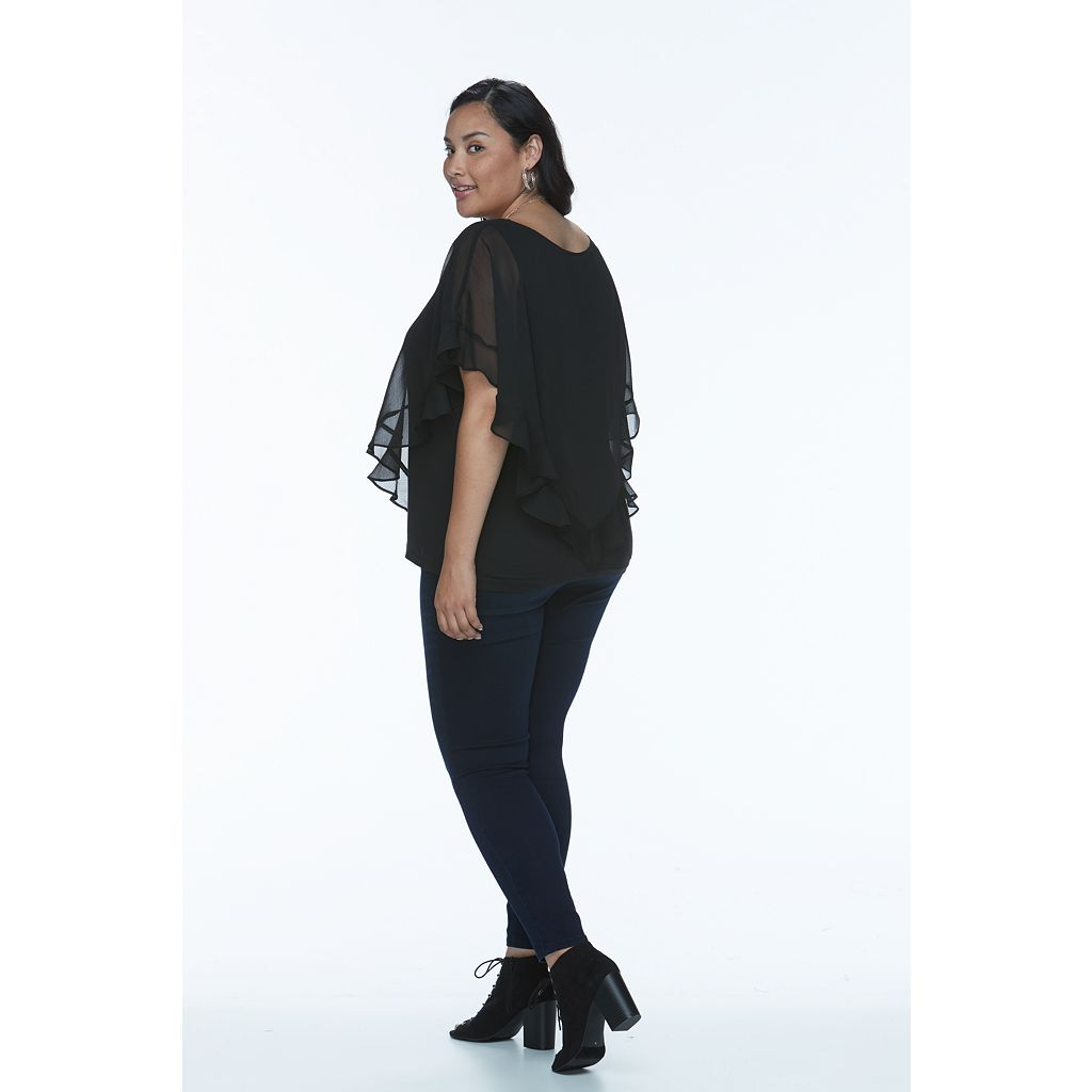 Plus Size Apt. 9® Chiffon Popover Top