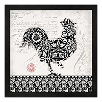 Rooster I Framed Wall Art