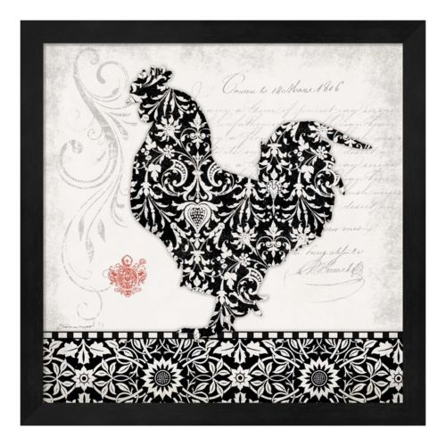 Rooster II Framed Wall Art