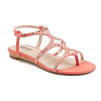 Jennifer Lopez Women's Jeweled Wedge Sandals