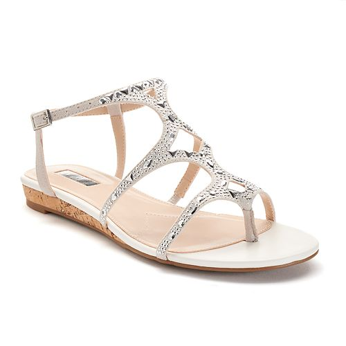 4113793b698903 Jennifer Lopez Women s Jeweled Wedge Sandals