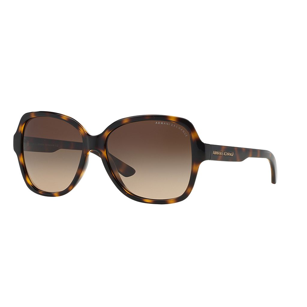 Armani Exchange AX4029S 57mm Butterfly Gradient Sunglasses