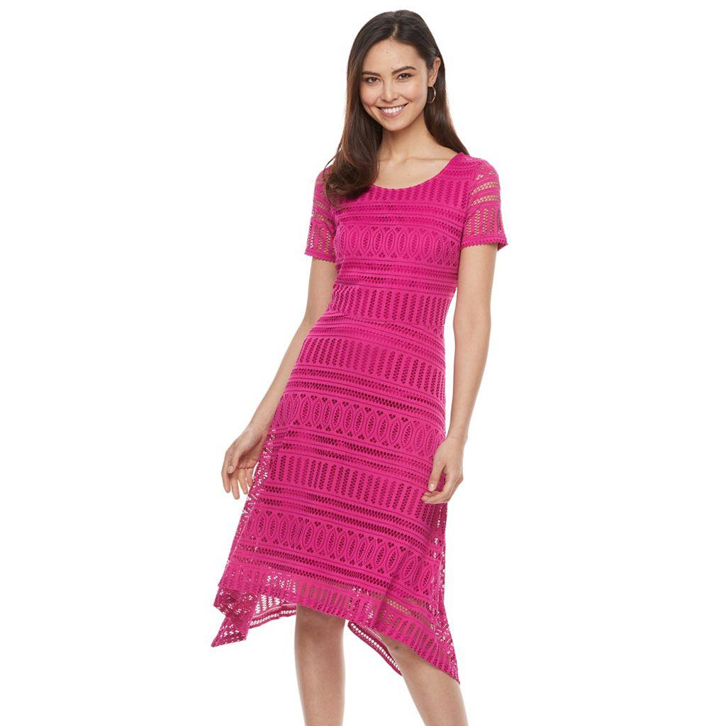 Women's Dana Buchman Shark-Bite Lace Dress