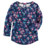 Girls 4-8 OshKosh B'gosh® Floral French Terry Pullover