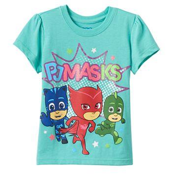 Toddler Girl PJ Masks Owlette, Catboy & Gekko Graphic Tee