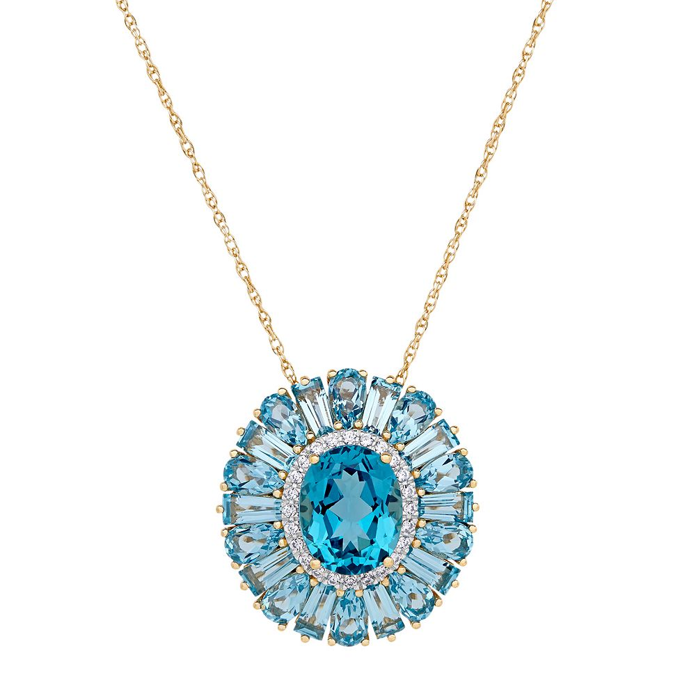 14k gold over silver simulated paraiba tourmaline cubic zirconia 14k gold over silver simulated paraiba tourmaline cubic zirconia flower pendant aloadofball Image collections
