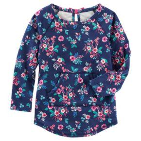 Toddler Girl OshKosh B'gosh® Floral French Terry Pullover