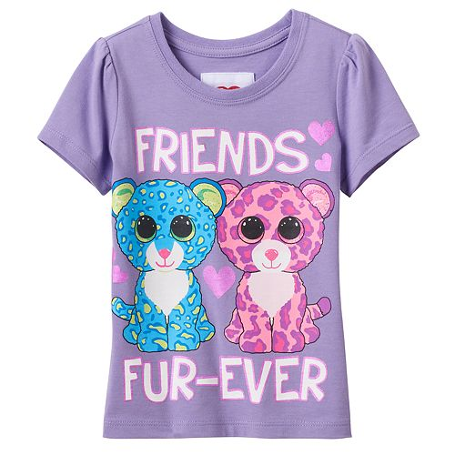 Toddler Girl Beanie Boos Leona & Glamour Leopard Graphic Tee