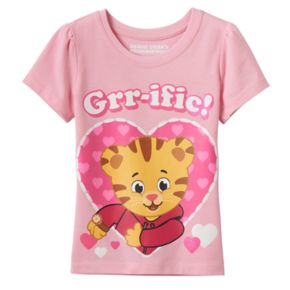 "Toddler Girl Daniel Tiger ""Grr-ific"" Heart Graphic Tee"