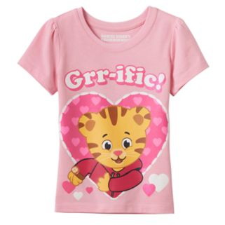 """Toddler Girl Daniel Tiger """"Grr-ific"""" Heart Graphic Tee"""