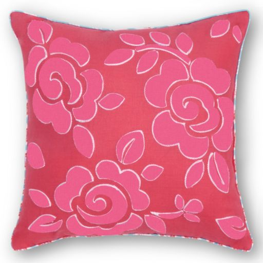 Haute Girls Rosalie Embroidered Flower Throw Pillow