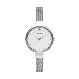 Armitron Women's Crystal Stainless Steel Mesh Watch - 75/5465WTSV