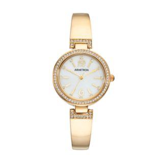 Armitron Women's Crystal Half Bangle Watch - 75/5469MPSV