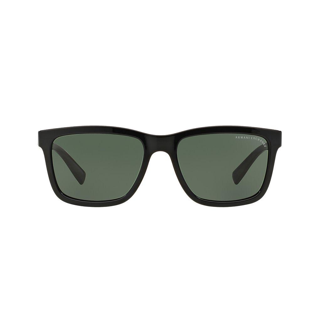 Armani Exchange AX4045S 56mm Rectangle Sunglasses