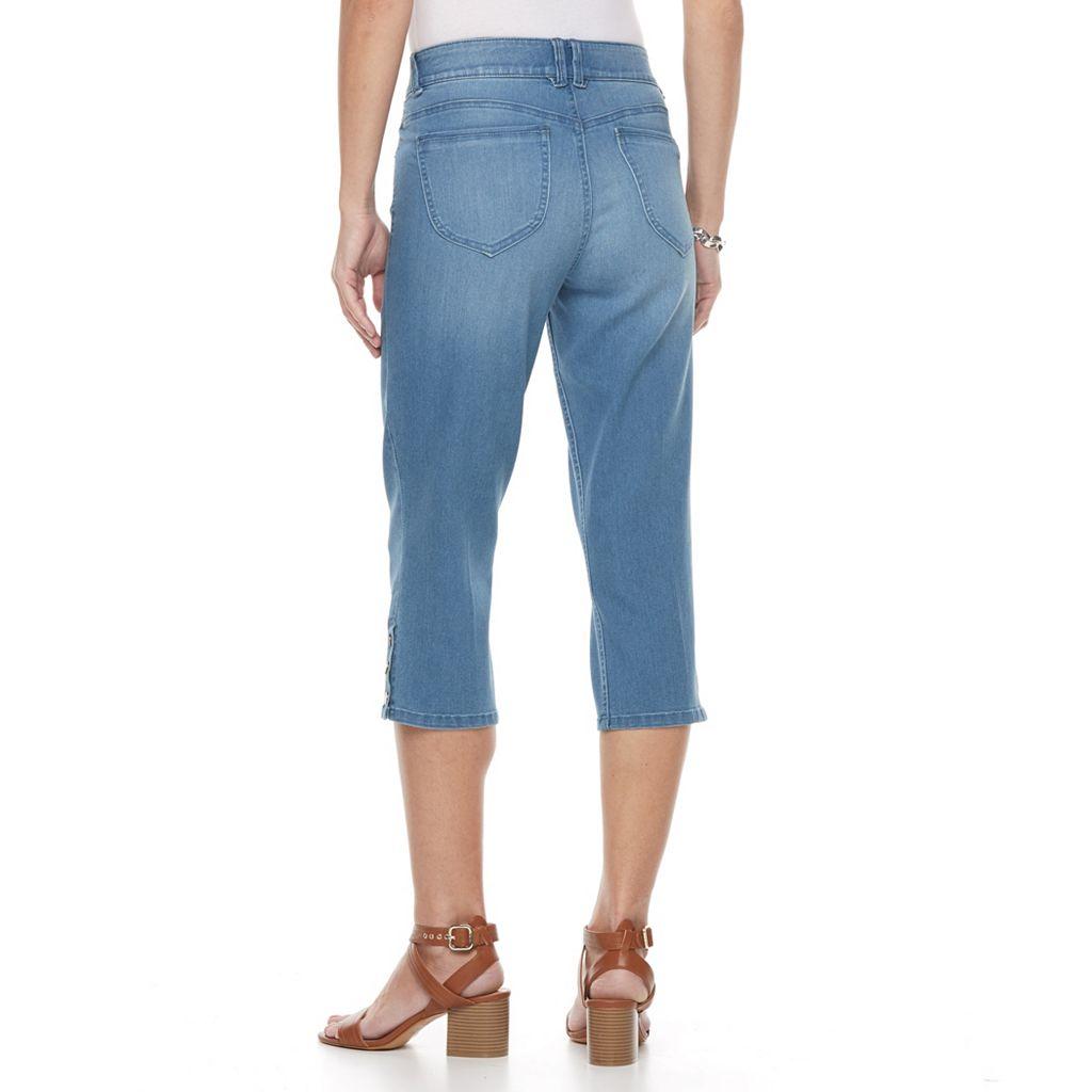 Women's Dana Buchman Snap Capri Jeans