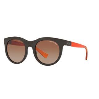 Armani Exchange AX4053S 51mm Round Gradient Sunglasses