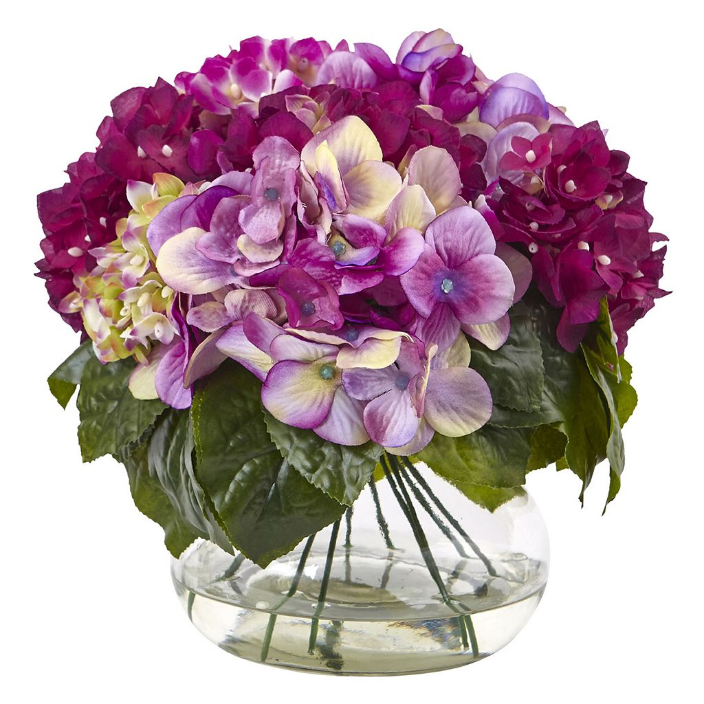 nearly natural Multi-Tone Beauty Hydrangea Artificial Floral Arrangement
