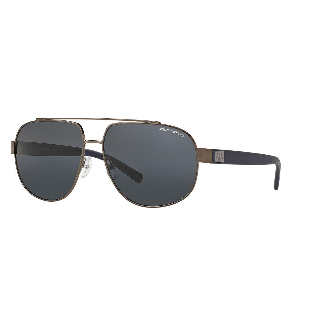 Armani Exchange AX2019S 60mm Pilot Sunglasses