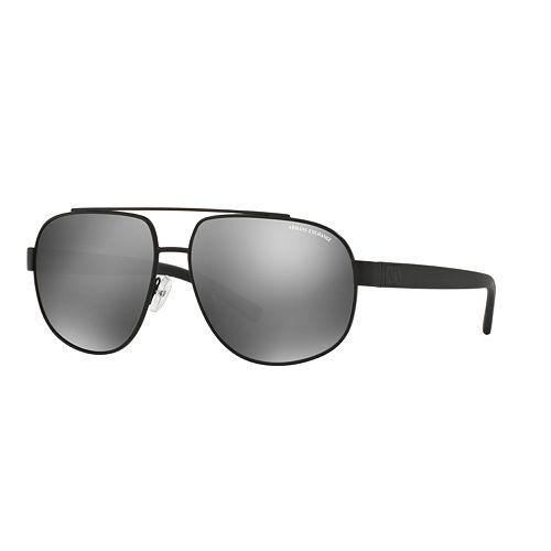 Armani Exchange AX2019S 60mm Pilot Mirror Sunglasses
