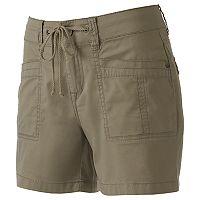 Juniors' Unionbay Mara Twill Midi Shorts