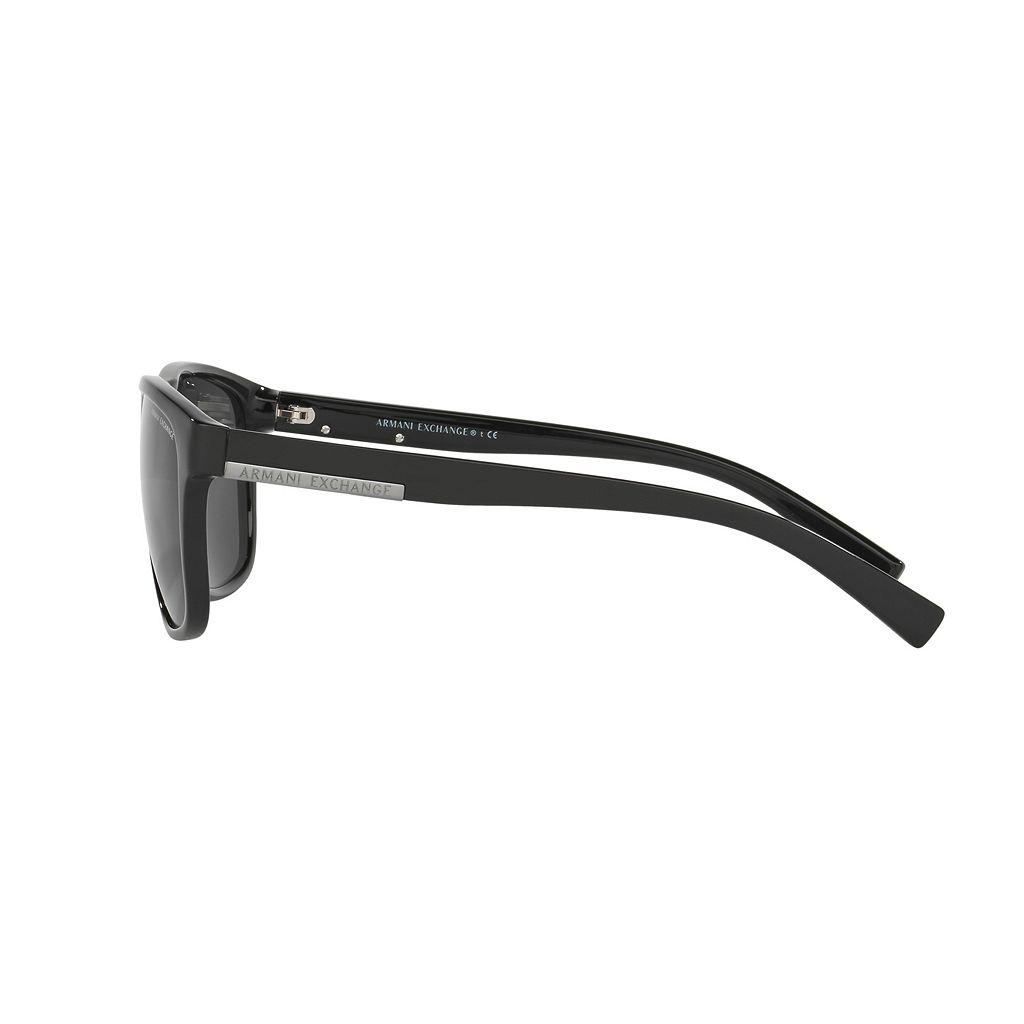 Armani Exchange AX4052S 58mm Rectangle Sunglasses