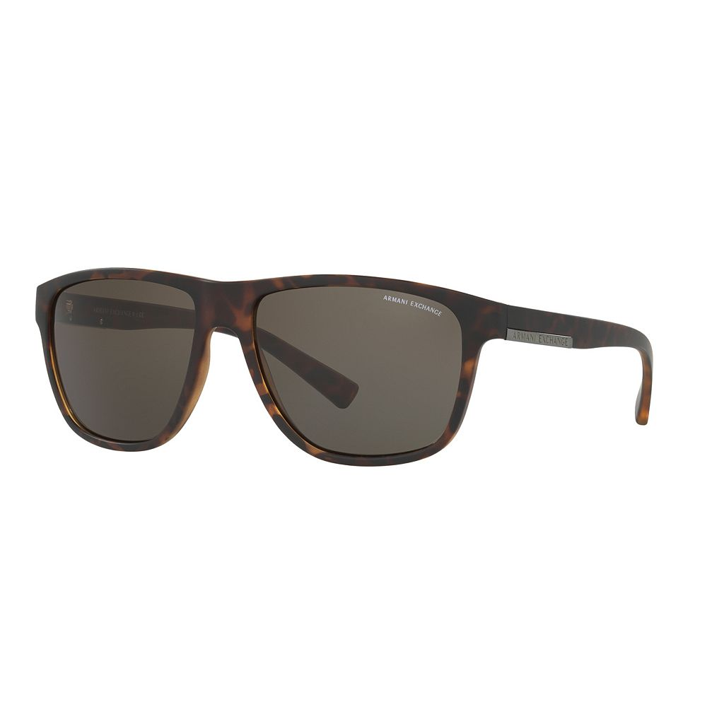 Armani Exchange AX4052S 58mm Rectangle Sunglasses
