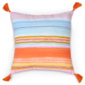 Haute Girls Safari Stripe Throw Pillow