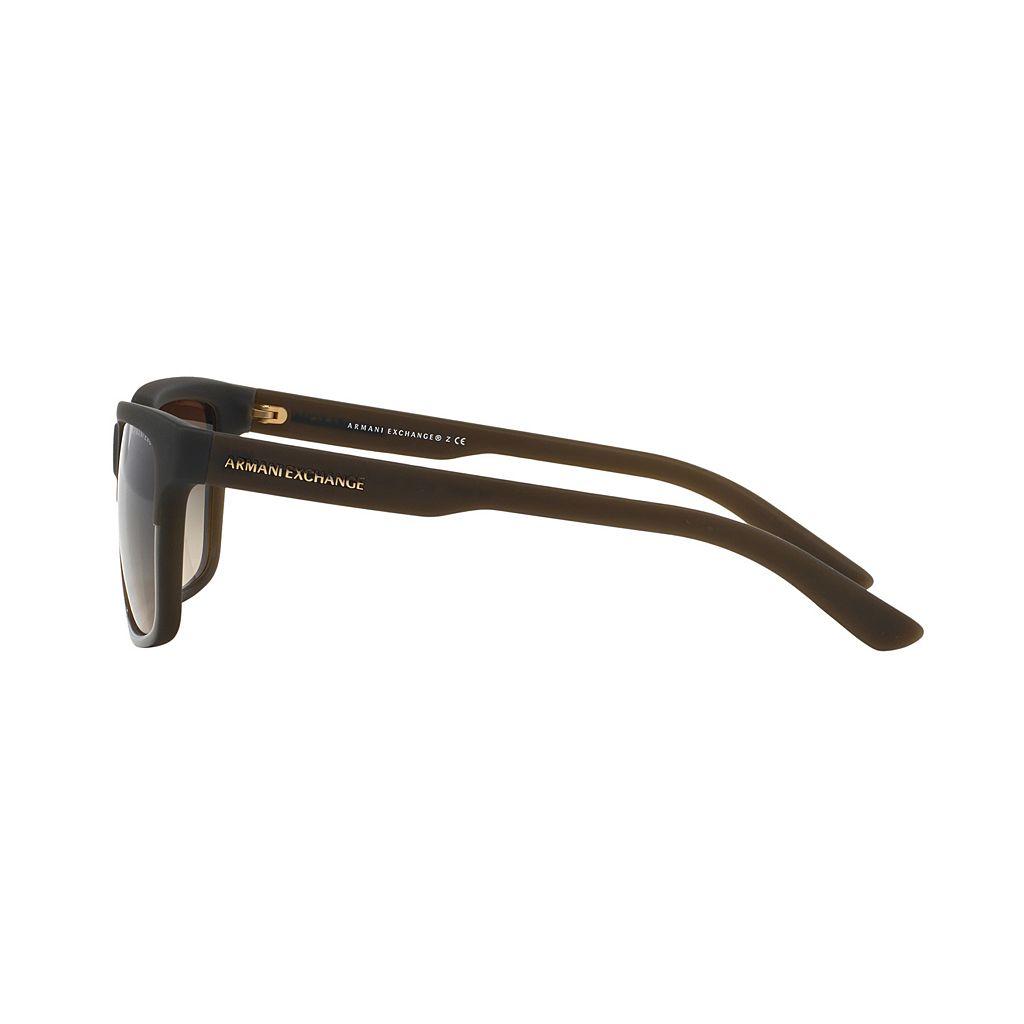 Armani Exchange AX4026S 56mm Square Gradient Sunglasses